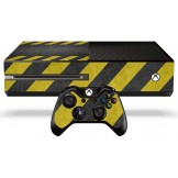 Xbox One Skin - Caution Stripes