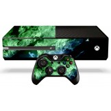 Xbox One Skin - Green Flames