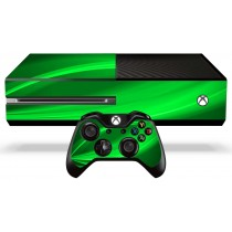 Xbox One Skin - Green Wave