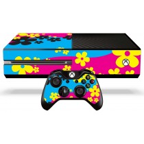 Xbox One Skin - Retro Flowers
