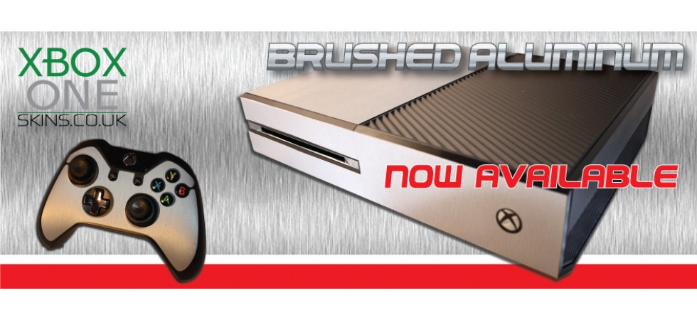 xbox one skins - Brushed aluminum xboxoneskins.co.uk